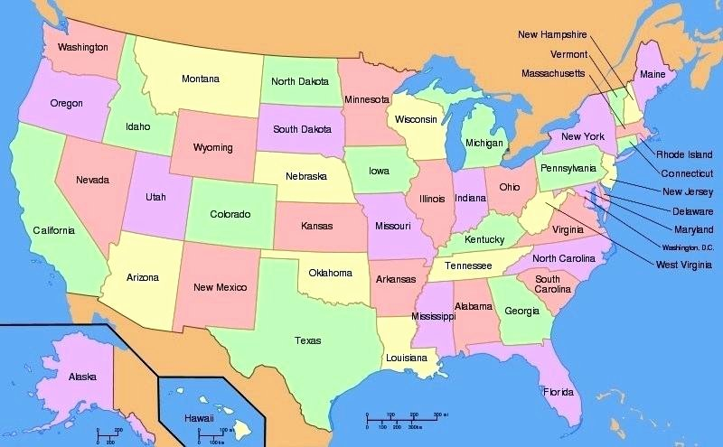 State Quiz Printable States Capitals Map – Amourangels