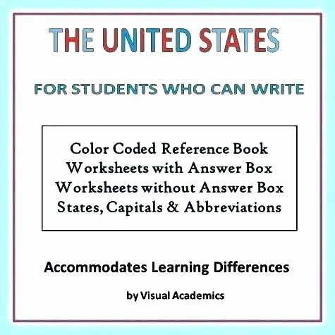 States and Capitals Matching Worksheet Learning States and Capitals Worksheets