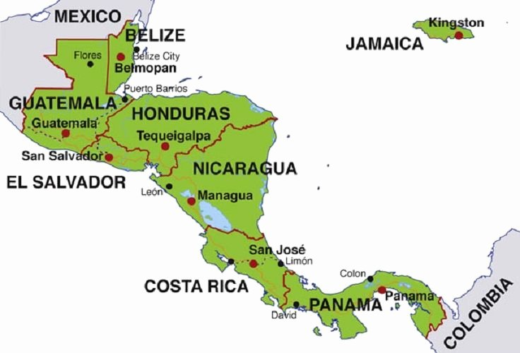 States and Capitals Matching Worksheet Map Of Central America Countries and Capitals