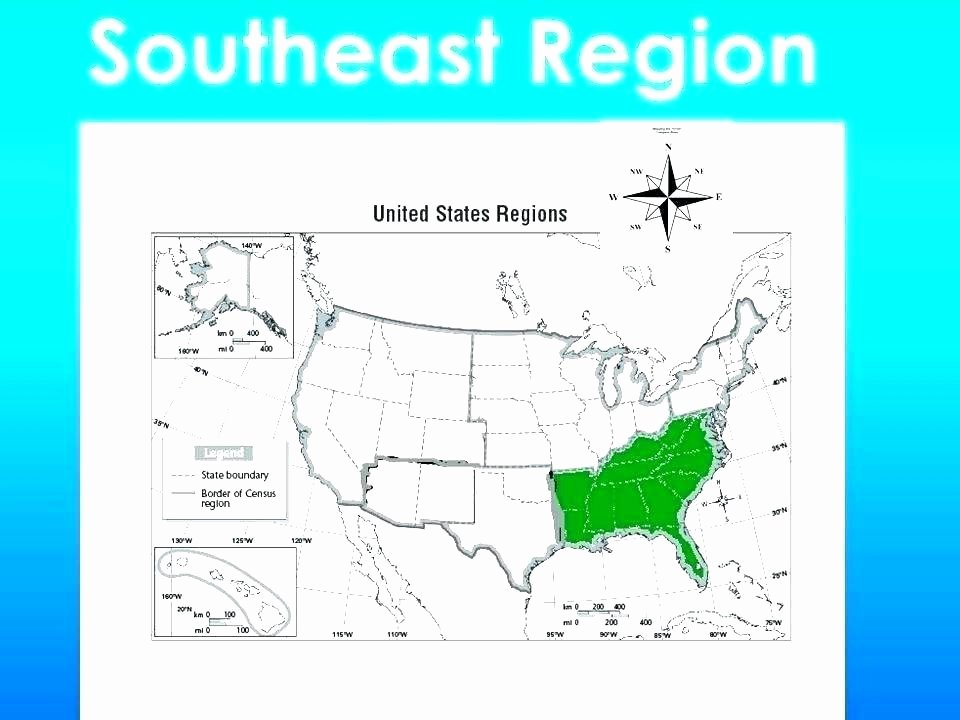 States and Capitals Matching Worksheet original 4 with southeast Region Map Blank Blank Map the