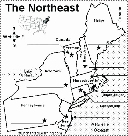 States and Capitals Matching Worksheet Regions the United States Worksheets Map Five southeast