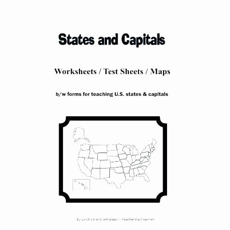 States and Capitals Matching Worksheet Us Map States and Capital River United State Capitals
