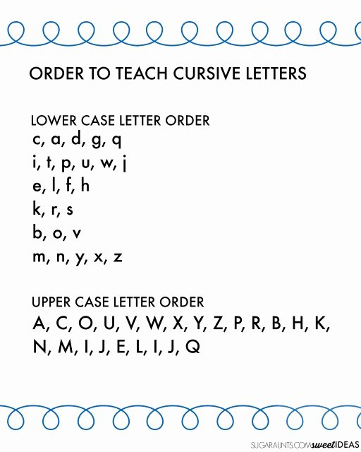 Step Up to Writing Worksheets Best Of Cursive Writing Alphabet and Easy order to Teach Cursive