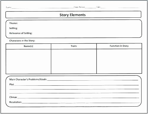 Story Elements Worksheet 2nd Grade Main Character Worksheets and Setting Worksheet Grade for