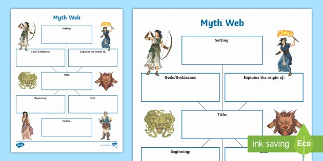 Story Elements Worksheet 2nd Grade Myth Web Worksheet Prehension Story Elements Myth