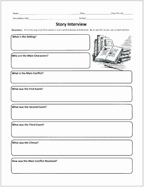 Story Elements Worksheet 2nd Grade Story Elements Worksheet Grade the Best Worksheets Image