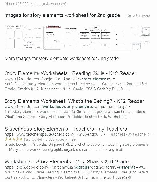 Story Elements Worksheets 2nd Grade Reading Prehension Worksheets K Reader A 4 1 3 Image
