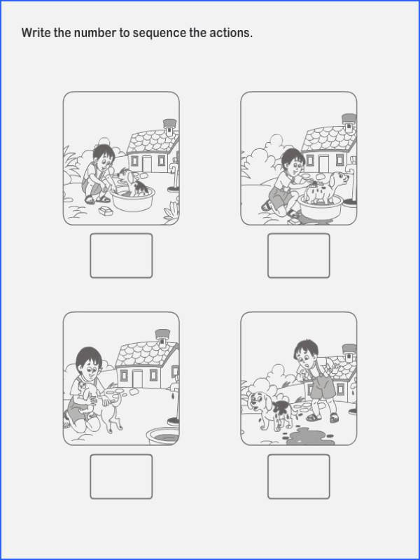 Story Sequence Pictures Worksheets 48 Sequencing for Kindergarten