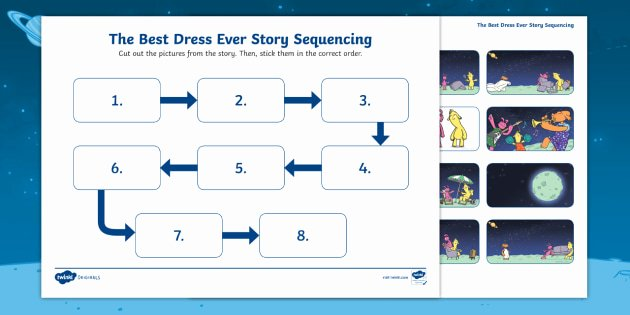 Story Sequence Pictures Worksheets the Best Dress Ever Story Sequencing Worksheet originals