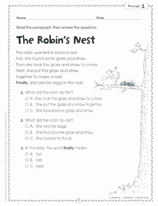 Story Sequence Worksheets for Kindergarten First Next Last Worksheets for Kindergarten
