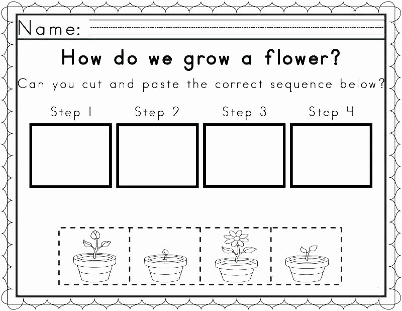 Story Sequence Worksheets for Kindergarten Free Sequencing Worksheets for 1st Grade