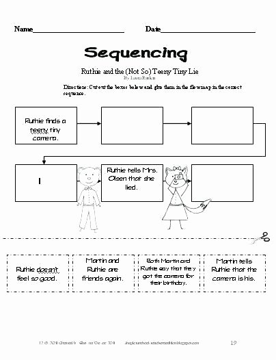 Story Sequence Worksheets for Kindergarten Lesson Plan Point View 4 First Person Sequence events