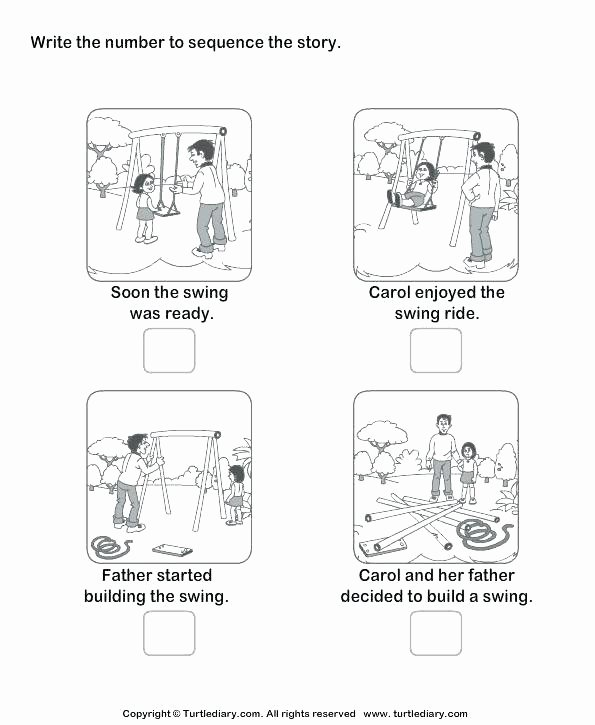 Story Sequencing Worksheets for Kindergarten Free Sequence Worksheets Esl Adverbs Head Shoulders Knees