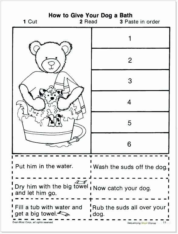 Story Sequencing Worksheets for Kindergarten Free Sequencing Worksheets for Kindergarten Story Sequence