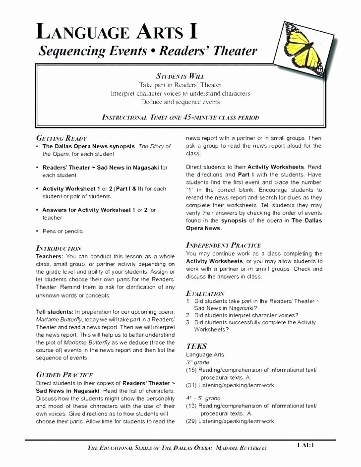 Story Sequencing Worksheets for Kindergarten Pattern Sequence Worksheets Grade Sequencing events