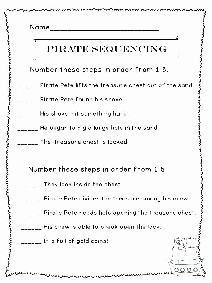Story Sequencing Worksheets Pdf Story Plot order events Worksheet Sequence events