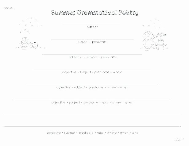 Subject Predicate Worksheet 2nd Grade Sentence with Nouns Countable Uncountable Match Worksheet