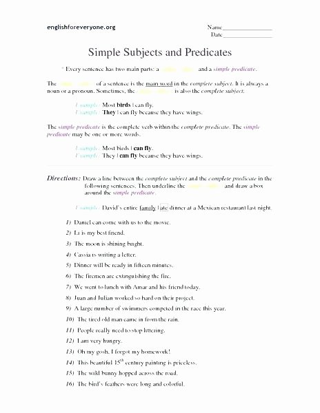 simple subject and predicate worksheet great tools free worksheets library print on pound plete printable poun
