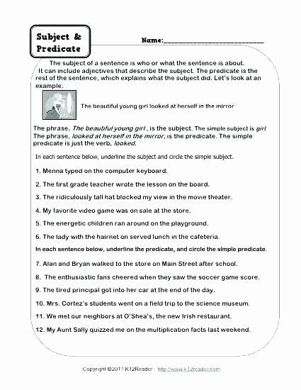 Subject Predicate Worksheet 2nd Grade Verb Worksheets for Grade 2 Verb Worksheets for Grade 2 Has