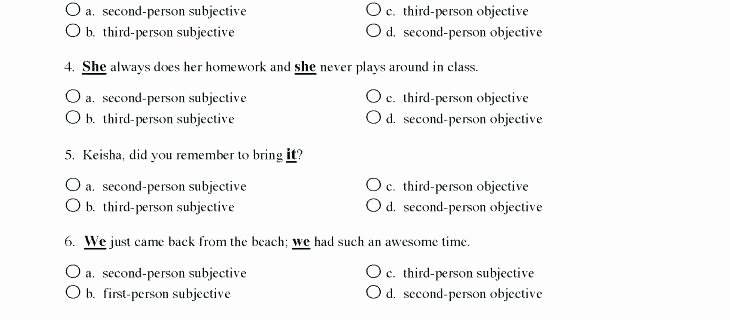 Subject Predicate Worksheet 6th Grade Subject and Object Worksheets Pronoun Worksheets Grade Free