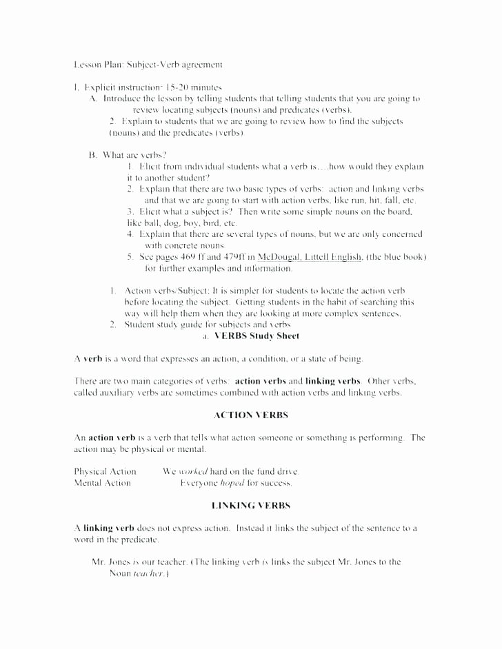 Subject Predicate Worksheet 6th Grade Subject Verb Agreement Worksheets Pdf