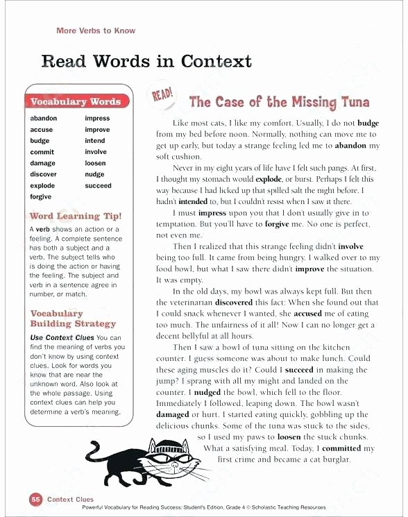 Subject Worksheets 3rd Grade Context Clues Worksheets 3rd Grade