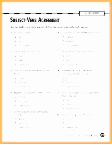 Subject Worksheets 3rd Grade Subject Verb Agreement Worksheets Pick the Exercises Doc