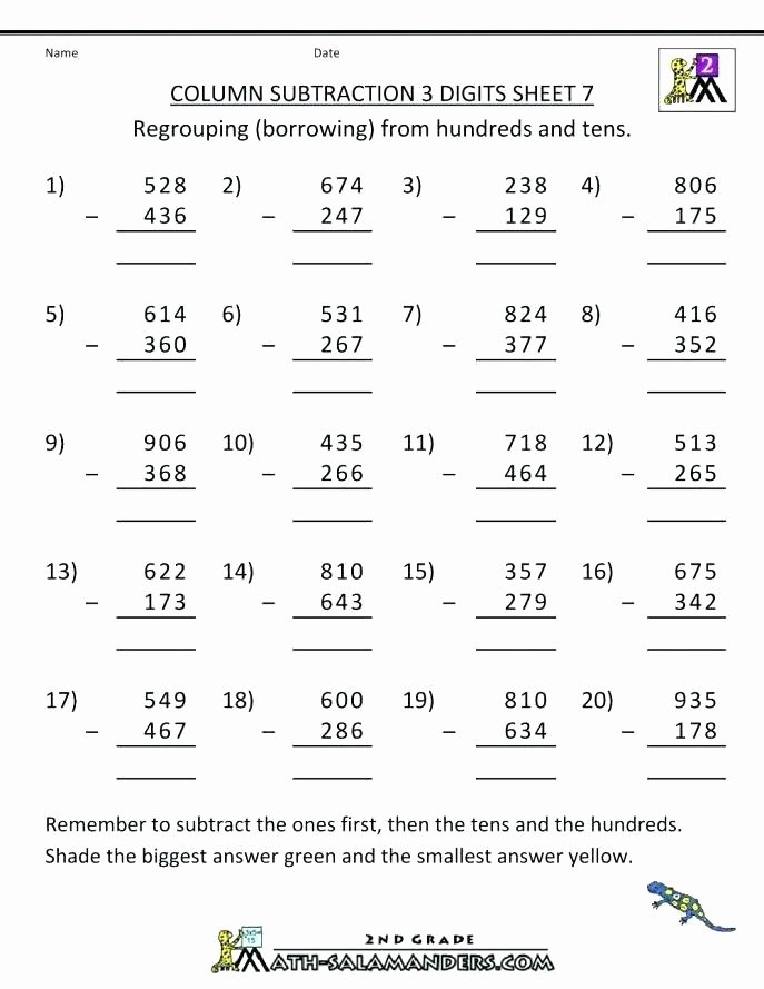 Subtracting Across Zeros Worksheet Pdf 4 Digit Subtraction Math Addition Worksheets with Regrouping
