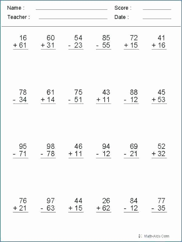 Subtracting Across Zeros Worksheet Pdf Adding and Subtracting Zero Worksheets