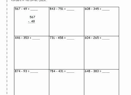Subtracting Decimals Horizontal Worksheet 3rd Grade Subtraction Worksheets Fun Maths Addition 3 Adding