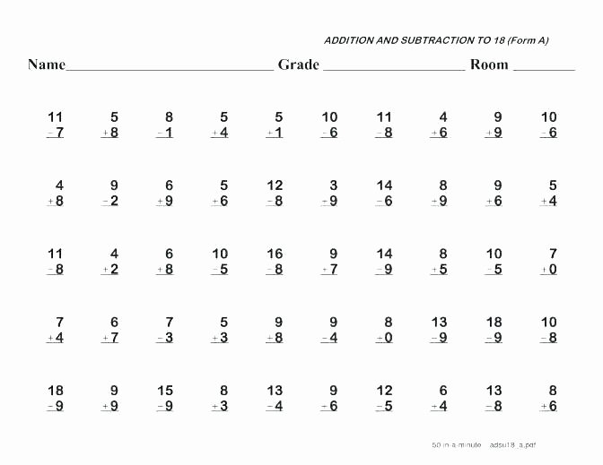 Subtracting Decimals Horizontal Worksheet 4th Grade Addition and Subtraction Worksheets – ashafrance