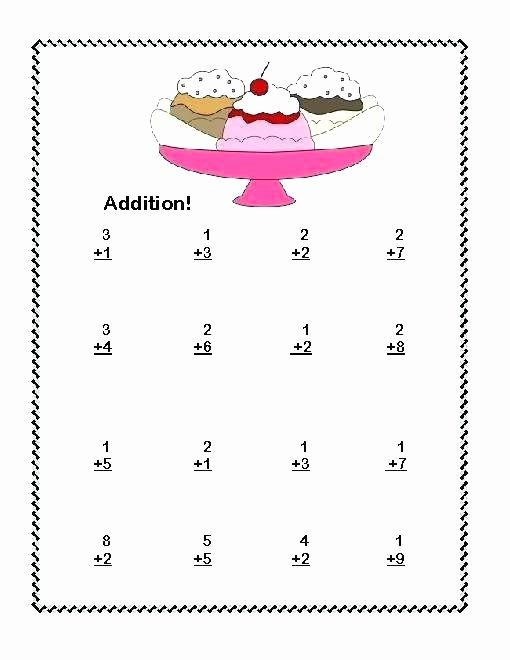 Subtraction Worksheet 1st Grade First Grade Adding Worksheets