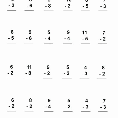 Subtraction Worksheet 1st Grade Math Worksheet 1st Grade – Upstatemedicaluniversity