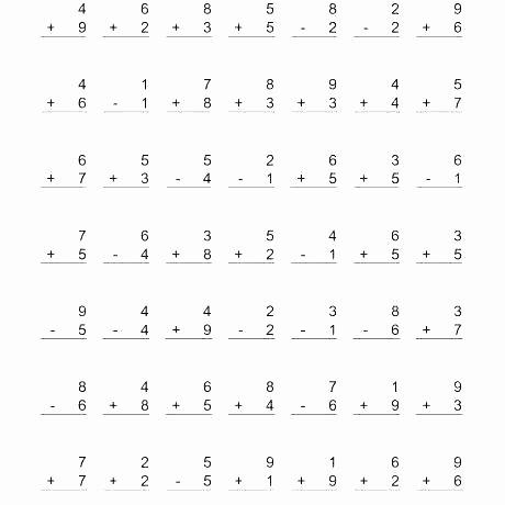 Subtraction Worksheet for 1st Grade Math Worksheet First Grade Addition Subtraction Worksheets