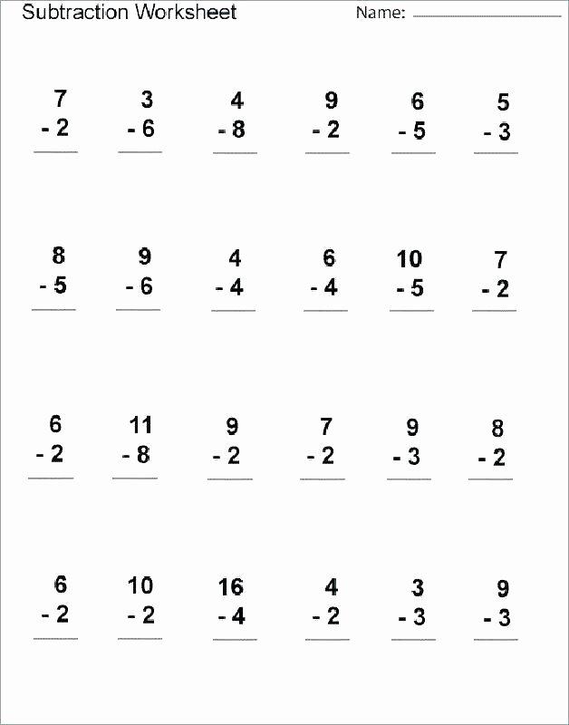 Subtraction Worksheet for 1st Grade Word Problems Worksheets 1st Grade