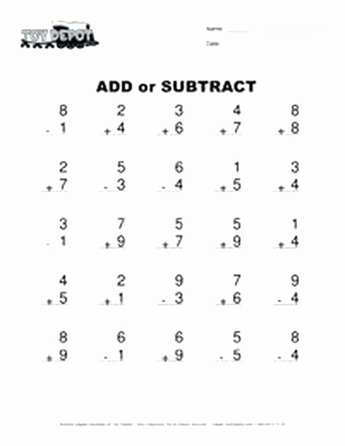 Subtraction Worksheets 1st Grade Free Subtraction Worksheets for First Grade Addition