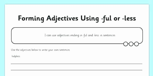 Suffix Ed Worksheets Suffixes Adjectives formed From Nouns and Verbs Worksheet
