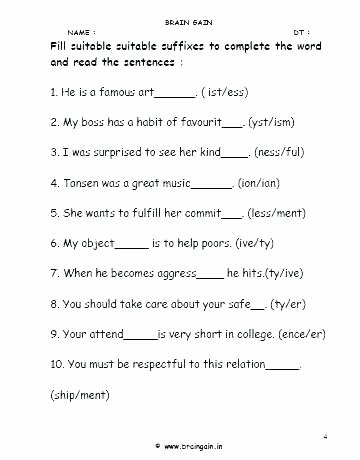 Suffix Worksheets 3rd Grade Free Suffixes Worksheets Suffix Grade 4 Adverbs Using and
