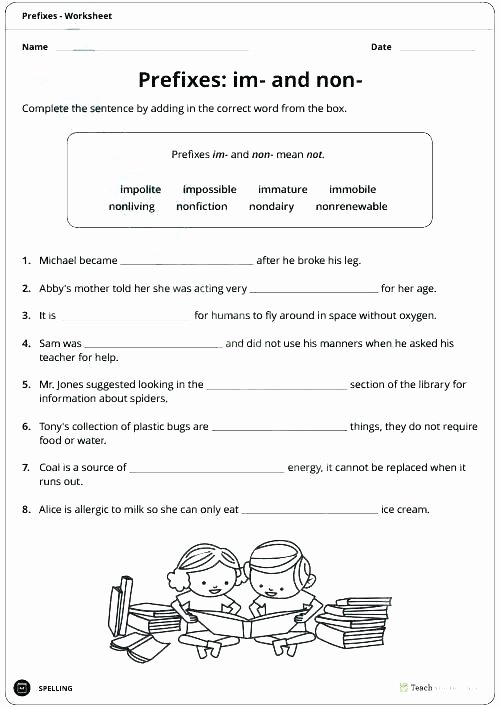Suffix Worksheets 3rd Grade Resources Prefixes Worksheets Prefix List Worksheet Ex 4th Grade