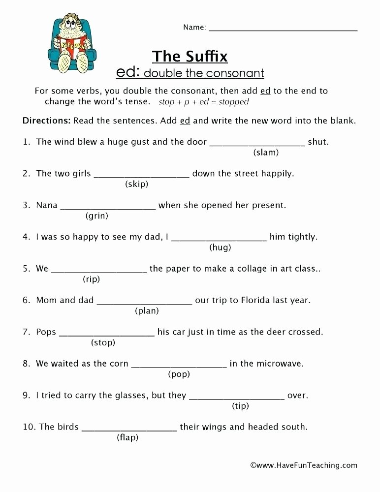 Suffix Worksheets 4th Grade Add Ed and Worksheets List Synonyms Antonyms the Word