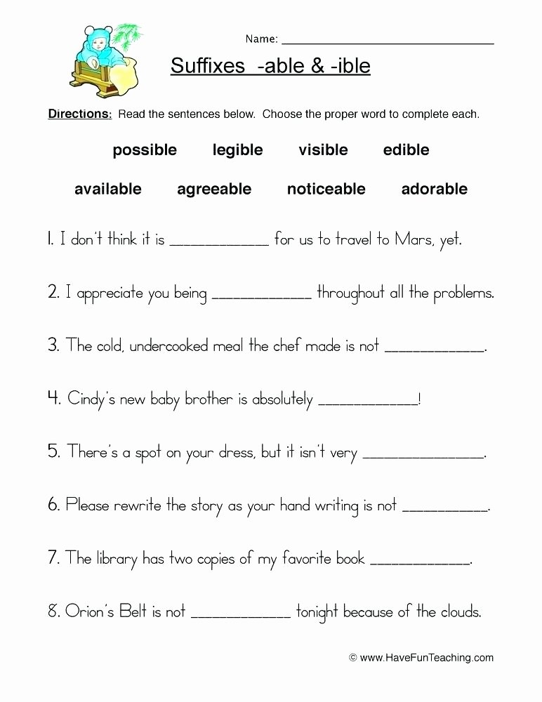 Suffix Worksheets Middle School 8th Grade Prefixes and Suffixes Worksheets Suffixes