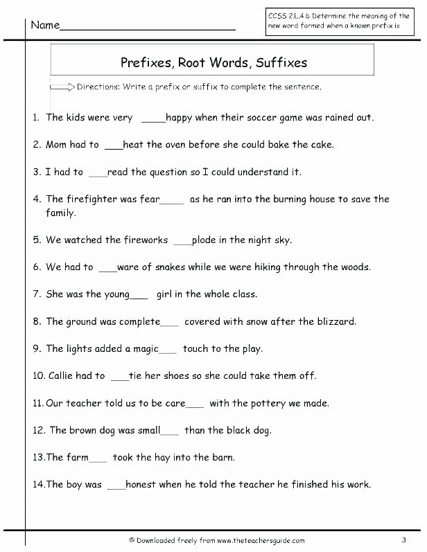 Suffix Worksheets Middle School Prefix and Suffix Worksheets with Answers Best Electric
