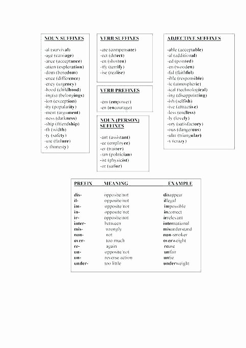 Suffixes Worksheet 3rd Grade Root Words Prefixes and Suffixes Worksheets Word Study Grade