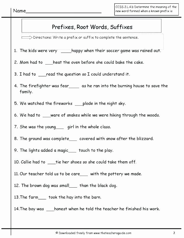 Suffixes Worksheet 3rd Grade Suffix Worksheets 3rd Grade Awesome Prefixes Worksheets