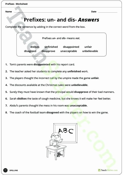 Suffixes Worksheets 4th Grade Prefix Worksheets 5th Grade and Dis Prefixes Worksheet
