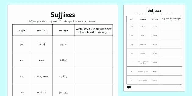 Suffixes Worksheets for 2nd Grade Suffix Worksheets for Grade 2 Suffixes Ful and Less