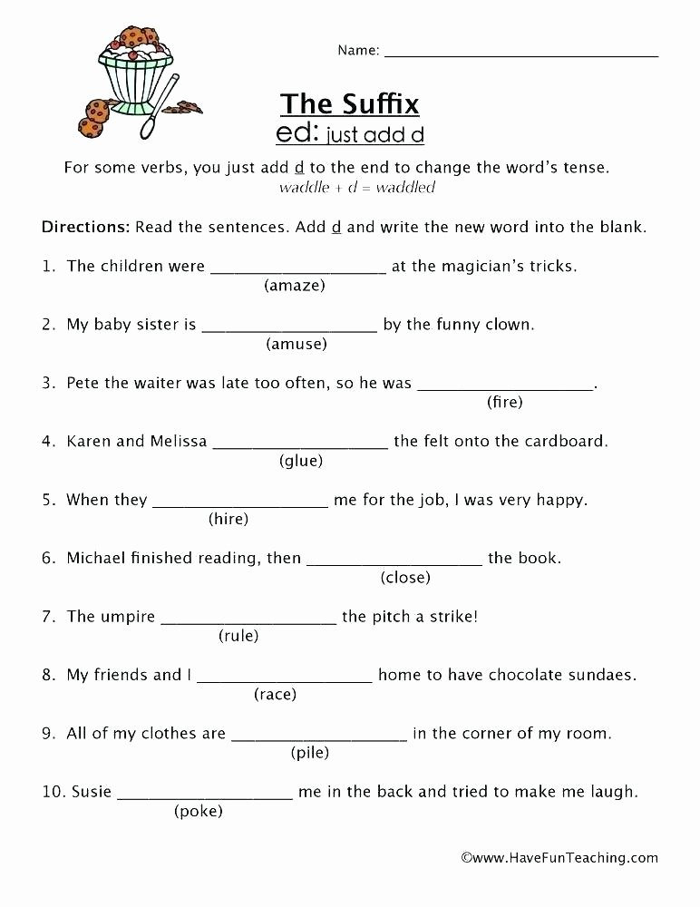 Suffixes Worksheets for 2nd Grade Suffixes and Less Worksheets Ly Ful for 5th Grade Free