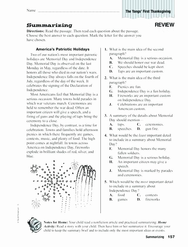 grade review worksheets summarizing worksheet 1 summary reading for graders fourth language arts mixed
