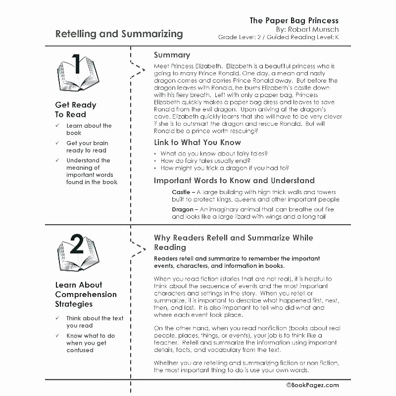 Summarizing Worksheet 4th Grade Grade Reading Prehension Passages Summarizing Worksheets