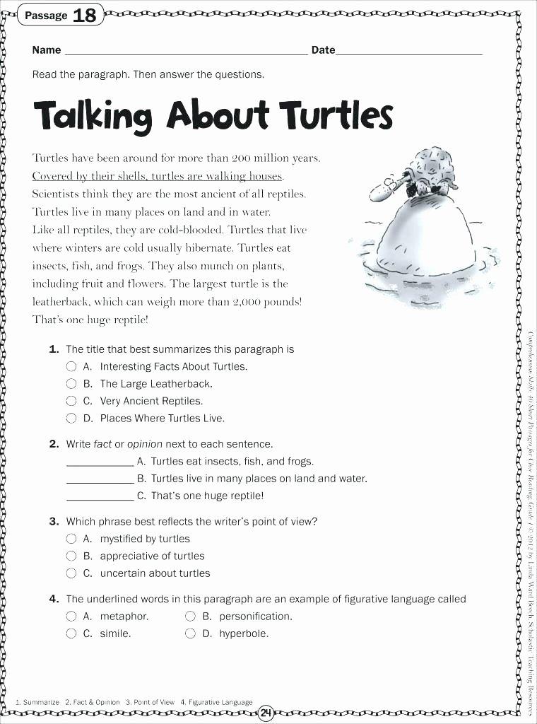 Summarizing Worksheet 4th Grade Printable Reading Worksheets 4th Grade